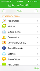 MyNetDiary Calorie Counter PRO for iPhone