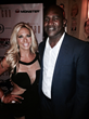 Carla Gonzalez with Host Evander Holyfield, four-time World Heavyweight Champion at the ESPY'S After Party presented by Celebrity Sweat VIP Bash - Supporting Breast Cancer Awareness