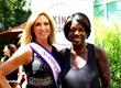 "Carla Gonzalez, Ms. United Nation International, with Actress Viola Davis of ""How to Get Away with Murder"""
