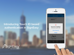 SignEasy Introduces Touch ID integration for iOS 8 App