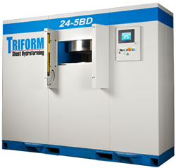 The 7 press package includes 2 Triform Fluid Cell 24-5BD sheet hydroforming presses.