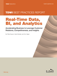 image of the 2014 TDWI Best Practices Report on Real-Time Data, BI, and Analytics
