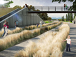 Civitas-designed Prairie Meadows Park at Denver's Stapleton will emulate indigenous Colorado prairie landscape with wind-swept dunes and high and low bridges for access across drainage ways.