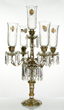 Important 19th century Bohemian glass five arm candelabra, made for the Islamic market.