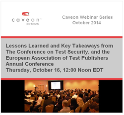 Caveon Test Security October Webinar session