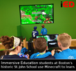 Boston students learning science and math in Minecraft
