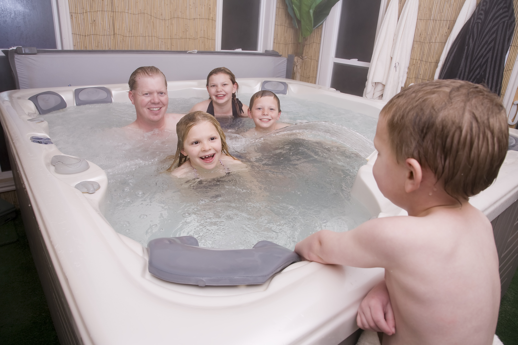 A Hot Tub extends the use of your garden