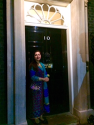 Aina Khan at Number 10 Downing Street
