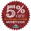 Get 5% Off All Orders Over $100 at Huyett.com