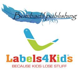 Labels4Kids logo and Bombadil Publishing logo