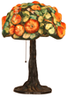 21-inch-tall Pairpoint Puffy Apple Tree table lamp, boasting deep, bold and rich color with no paint loss, should realize $15,000-$20,000