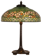 22-inch Tiffany Studios banded Dogwood table lamp, on a signed Tiffany Studios (N.Y.) bronze base (No. 531), for an overall height of 30 inches, is expected to garner $25,000-$35,000