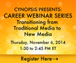 Cynopsis Announces Webinar on Reinventing Yourself – Transitioning...