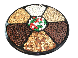 Giant wheel of nuts and confections gift