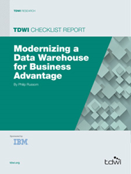 image of the 2014 TDWI Checklist Report: Modernizing Your Data Warehouse for Business Advantage