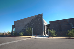 This photo shows the entrance to the Performing Arts Center at Mesa Community College.