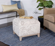 Amrit Cube Ottoman 23138 from Uttermost