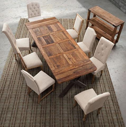 Haight Ashbury Table And Assorted Upholstered Dining Chairs From Zuo Modern