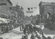 Woodbury College in 1894, during Fiesta, an early day celebration.