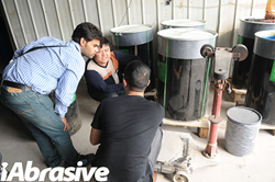 iAbrasive staff were busy with accompanying an Indian purchaser to conduct on-the-spot investigation to several abrasives manufacturers.