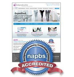 Backgrounds Online is Accredited by the NAPBS