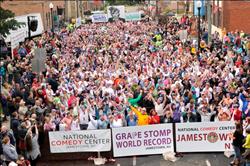 Guinness World Record Grape Stomp 10-11-14