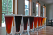 A beer rainbow at Traverse City's Brewery Terra Firma