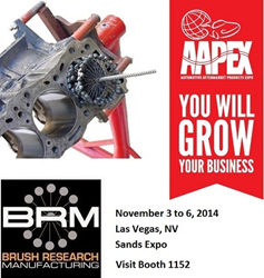 AAPEX 2014 - Visit BRM in Booth 1152