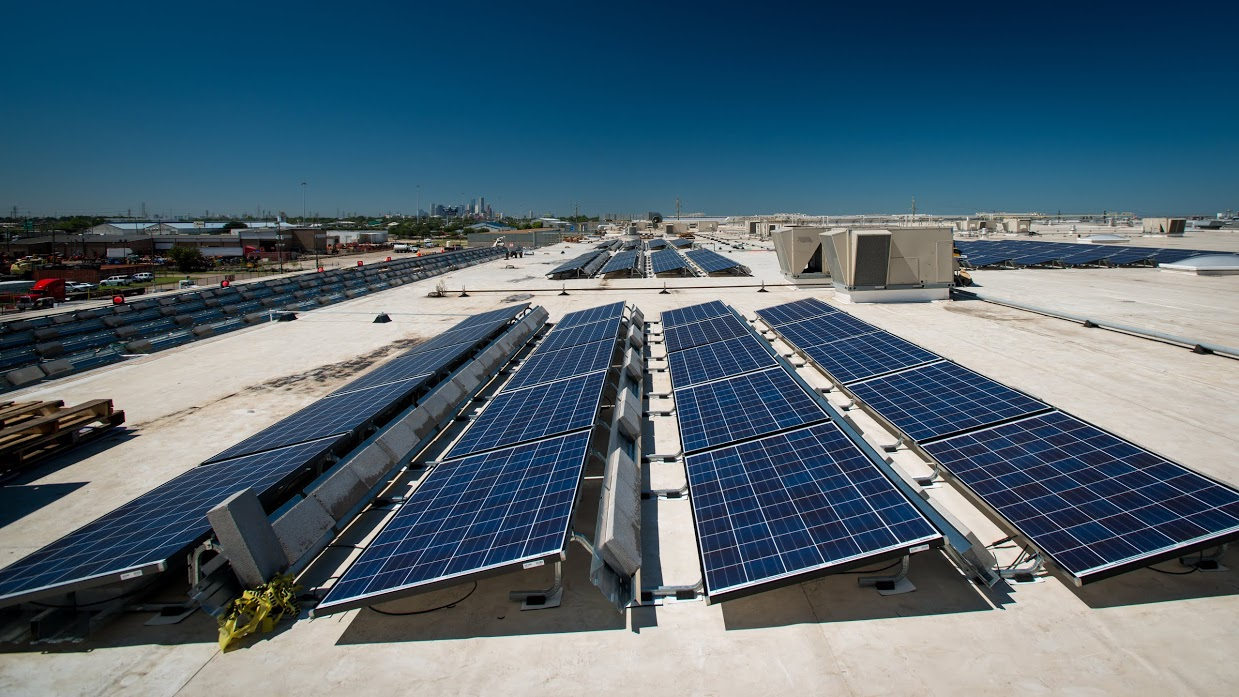 Houston food bank to serve thousands of solar powered for Solar panels houston