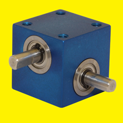 The Miniature RA-300 Gear Drive measures 1.25 inches in height, width, and depth