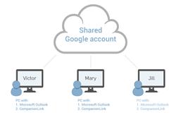 Share Outlook Calendar using Google