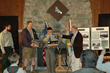 Camp Parsons Wilderness 50 Photo Contest 1st place winner Eagle Scout Austin Ulfers of Bellevue Troop 438 is presented with his prizes