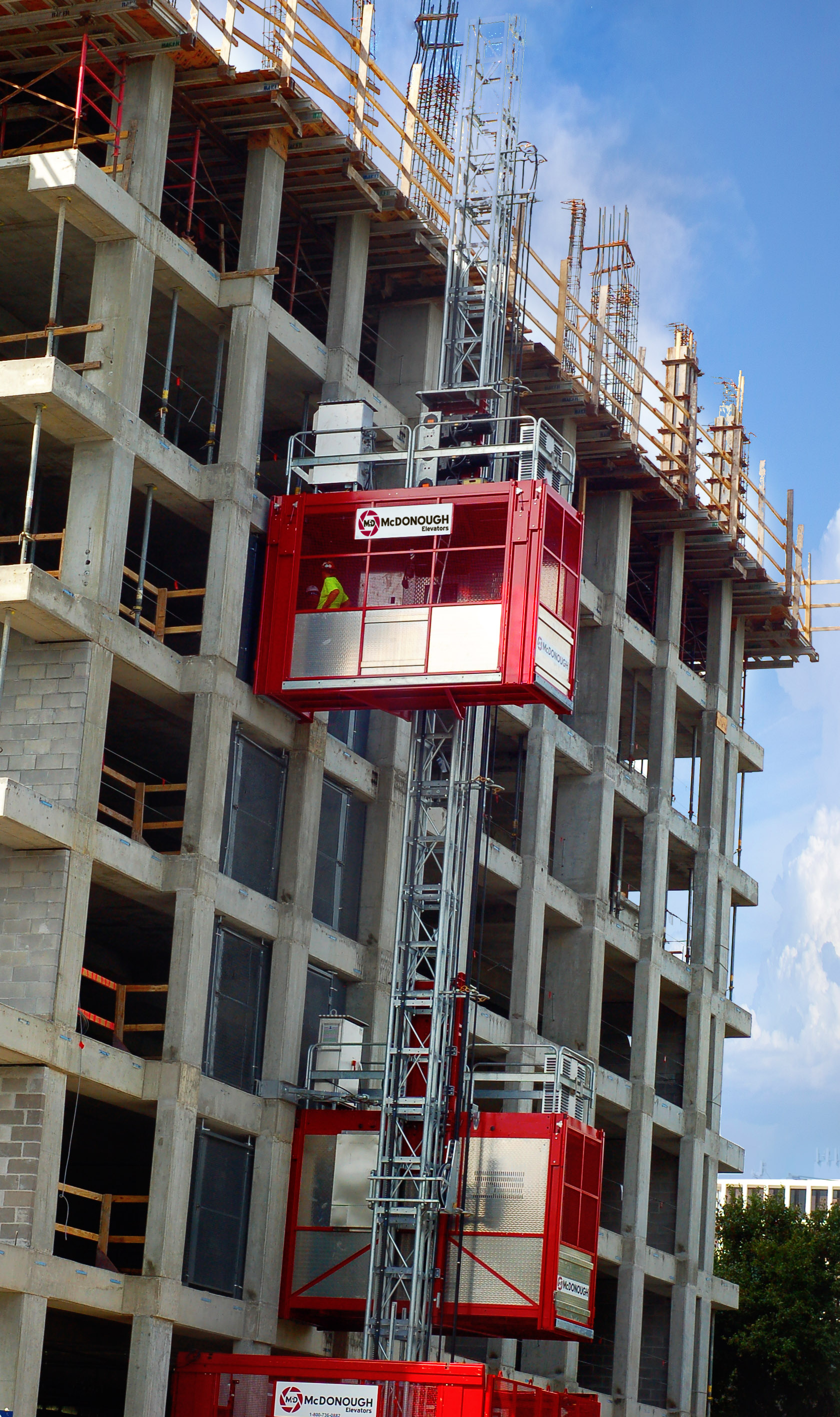 Building Elevator Lifts : Houston based construction hoist supplier expands national