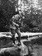 Eagle Scout L. Ron Hubbard in 1924 with the Kodak Brownie Jr. he used to take photographs of the Olympic National Forest Wilderness areas.