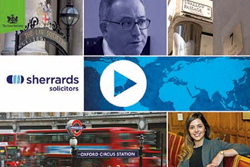 Sherrards Solicitors: Chosen to appear in Law Society video to show what mid tier firms can achieve on the international stage