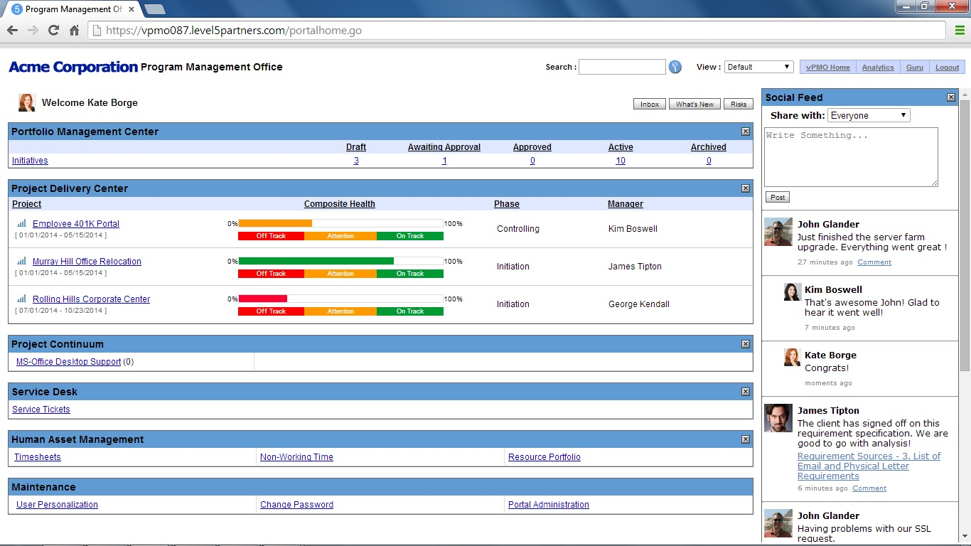 how to create a pmo dashboard