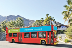 image of Modernism Week's signature Double Decker bus tour
