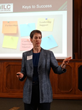 Teresa Hay McMahon, Founder, Iowa Lean Consortium, encourages CA agencies to consider Lean by telling public sector Continuous Improvement success stories at Forum in Sacramento.