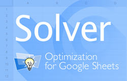 Solver Add-on: Optimization for Google Sheets