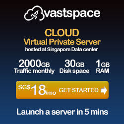 Cloud VPS hosted in Singapore Data center