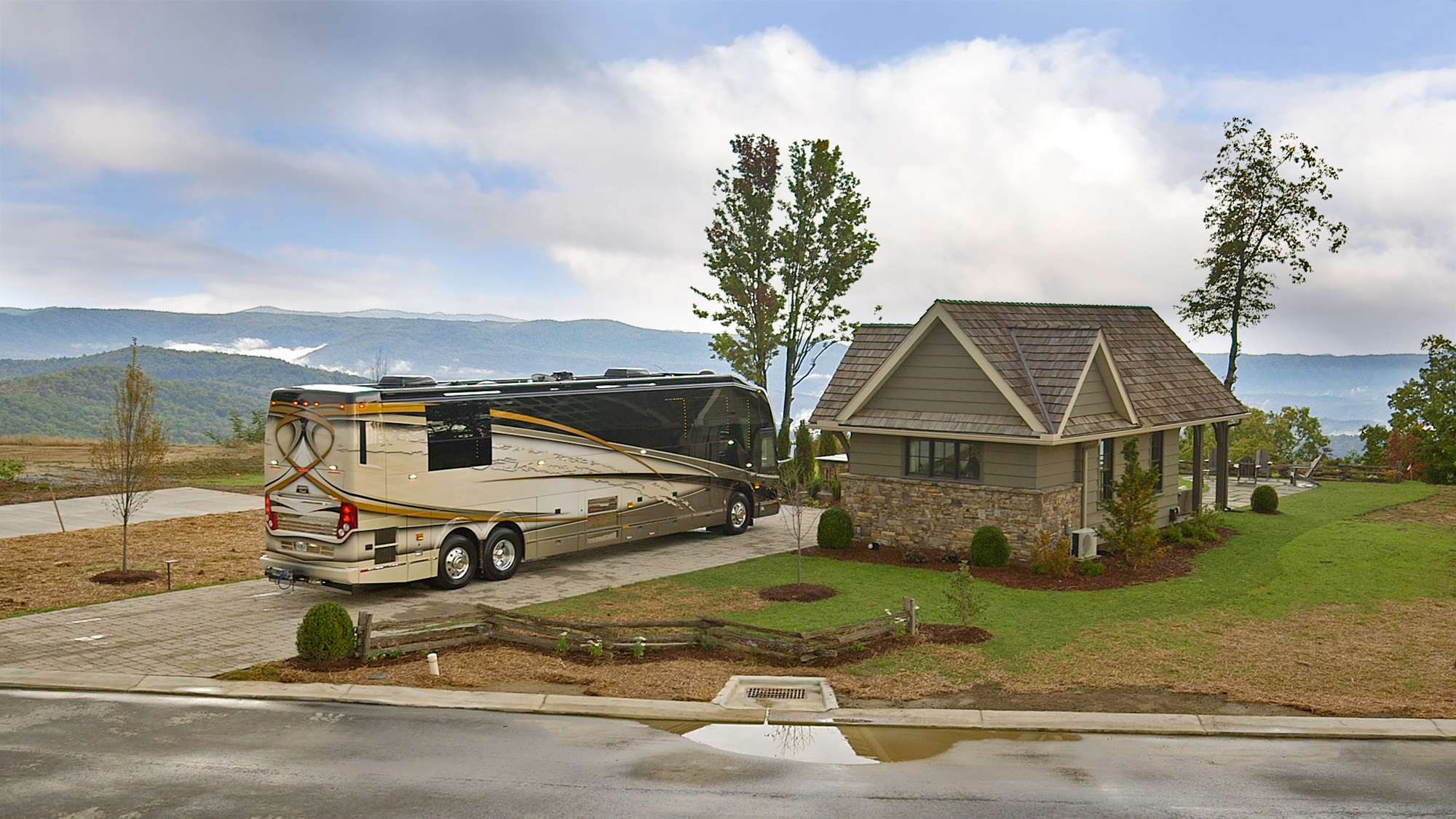 major milestone achieved as the first motorcoach is parked on the
