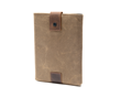 iPad Outback Slip Case—lightly padded, waxed canvas and leather