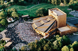 Ariel view of Filene Center at Wolf Trap National Park for the Performing Arts