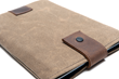 Tablet Outback Slip Case—lightly padded, waxed canvas and leather