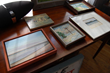 An array of original paintings depicting historic Shelter Island