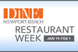 Dine Newport Beach Announces A Refreshed Restaurant Week January...
