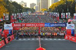 Chicago Marathon Starting Line