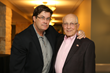 Texas Monthly's Skip Hollandsworth pictured with resident Dr. Robert Rugeley.