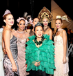 "Fashion Designer Sue Wong Backstage at Her Spring 2015 ""Fairies & Sirens"" Fashion Show with Her Models"