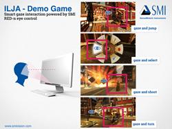 ILJA Gaze Interaction Game - powered by SMI Eye Tracking